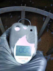 Zdjęcie z pomiaru stężenia na koniec procesu fumigacji